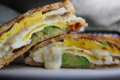 Grilled Avocado and Egg Melt Sandwich