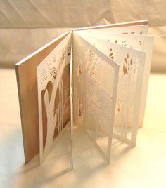 beautiful papercut handmade book