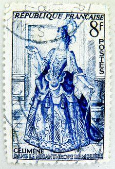 Stamp - France 8 F postes