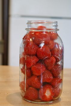 Now if we have left over strawberries from jamming we know what to do with them :)