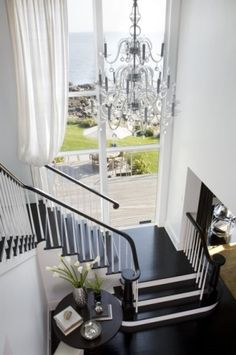 Rocky Ledge Stair with View - contemporary - staircase - boston - LDa Architecture & Interiors