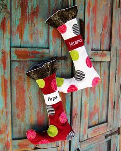 Whimsical Christmas Stocking Pattern and Tutorial #sewing #christmas #stockings