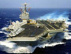 U.S. Navy Aircraft Carrier.
