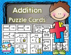Addition Puzzles! Just Print and Go! from Create abilities on TeachersNotebook.com -  (89 pages)  - Addition Puzzles! Just Print and Go!