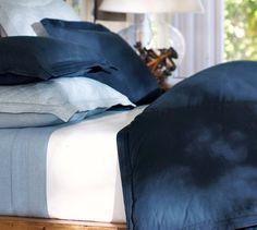 Casual Cotton Duvet Cover & Sham - Midnight Blue | Pottery Barn