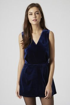 { velvet playsuit for the holiday party }