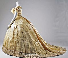 1866 wedding dress Mon. Vignon