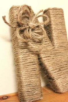 Custom Letters Wrapped in Thick Jute by genesisbyelf on Etsy, $20.00 by carlene