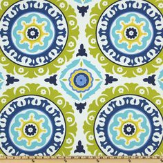 this would be a great curtain/drape pattern. Includes navy to go with couches but also lightens it up with the yellow and green