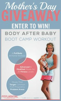 Celebrating Moms: 40 #FitFluential Posts for Mom #giveaway #win  Body after Baby Boot Camp Workout Dvd from Fit Pregnancy and Parenting Amanda Tress