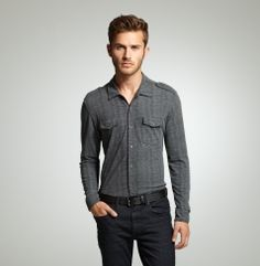 Long-Sleeve Printed Stripe Shirt  Kenneth Cole New York  $69.50