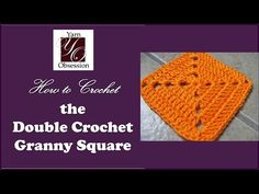 Double Crochet Granny Square, free pattern and video tutorial from Yarn Obsession