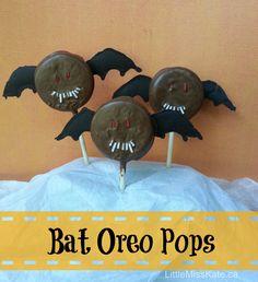 halloween treats bat oreo pops