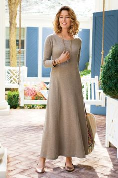Knit Weekend Dress - French Terry Dress, Weekend Dress   Soft Surroundings