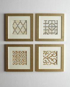 dining rooms, wall art, wall decor, geometric prints, living room walls, scrapbook paper, geometr print, diy projects, framed prints