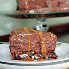 Life & Kitchen - Dark Chocolate, Caramel, and Pretzel Crunch Ice Cream Cake