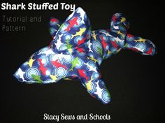 Sharky Stuffed Toy FREE pattern and tutorial