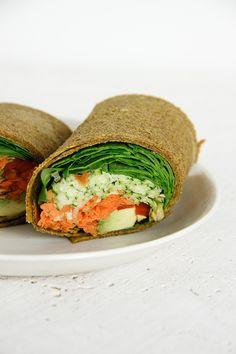 Raw Pumpkin Wraps #vegan #raw #lunch
