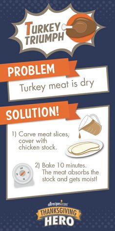 How to Fix Dry Turkey Meat | Turkey's a little dry? No problem. See several quick ways to make it moist!