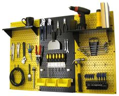 Get creative with pegboard and let your tool storage system show your team pride or support your alma mater with Wall Control's colored pegboard!