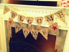 Welcome home party on pinterest welcome home welcome for Military welcome home party decorations