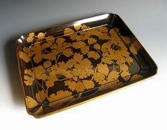 Japanese lacquer tea tray at www.Jcollector.com