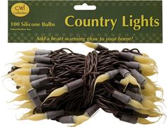 Give your country or primitive home an inviting glow with Country Lights. For the holidays or year round you can add cozy warmth to your collections and decor.