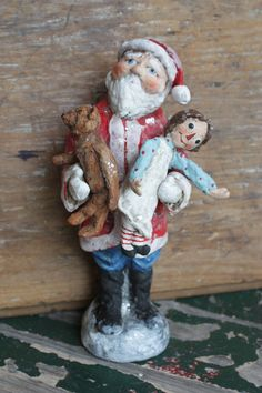 Santa's Best Christmas with Raggedy Ann doll by Debbee Thibault