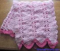 Free Crochet Pattern For Baby Girl Blanket : Crocheted Baby Afghans on Pinterest