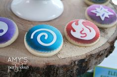 skylanders birthday party dessert table candy bar ideas fondant cupcake toppers by LIVCreativity, Skylanders Giants Birthday Party Ideas & Games | @AmysPartyIdeas #SkylandersGiants #party #DIY #Skylander #Birthday #dessert table #supplies