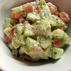 German Cucumber Salad. Includes a simple and delicious dressing recipe.