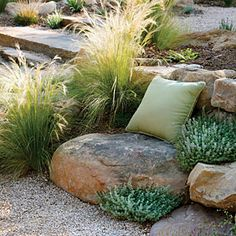 12 ideas from The New Sunset Western Garden Book | Use boulders for seating --oh do I like this idea!