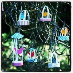 diy crafts, paper birds, christmas ornaments, crafti idea