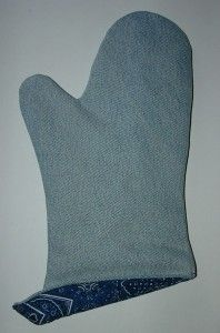Recycled Denim Oven Mitts. Le cutes.