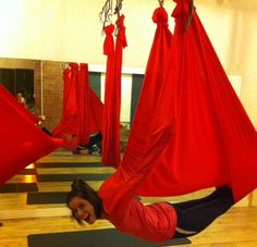 Antigravity Yoga! Feel the stretch :)