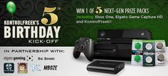 Win 1 of 5 Xbox One next-gen prize packs featuring Elgato Game Capture HD! Help my chances and enter yourself here