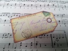 Label franse postkaart tekst