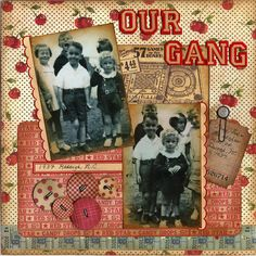 Our Gang - 1937 - Graphic 45 paper