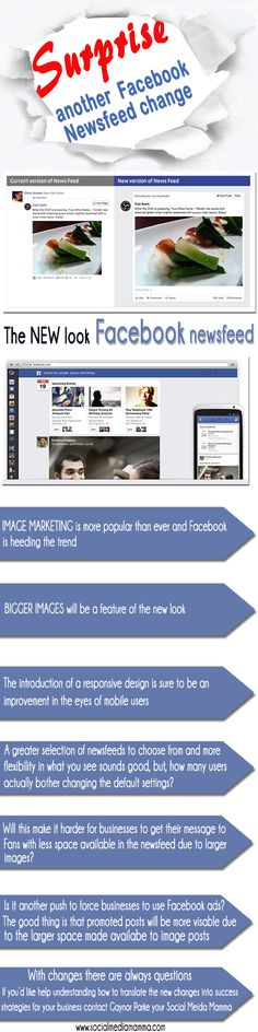New Facebook Newsfeed feature March 2013 Social Media Marketing #infographic www.socialmediamamma.com