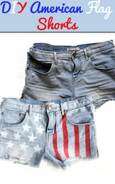 DIY American Flag Shorts..