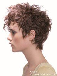Easy to style short hair cut