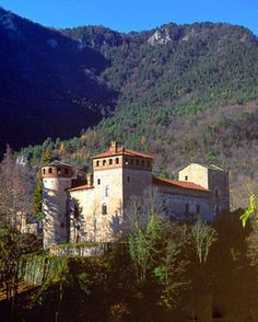 Cartignano Castle~In the Maira valley, the elegant and imposing structure of which dominates the surroundings. It was built in 1441 by Guglielmo I dei Berardi and was witness of the scene of bloody battles between Catholics and Calvinists in the XVII century.