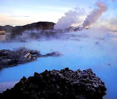 Hot spring in Iceland.
