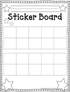 sticker chart templates