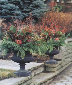Winter Urns tutorial
