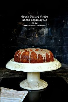 Bakeaholic Mama: Greek Yogurt Whole Wheat Maple Apple Cake