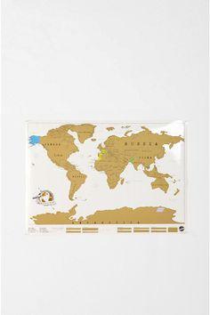 Scratch off world map.