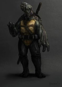 Cool Gritty NINJA TURTLES Character Illustrations — The illustrations were created by Mike Sekowski.