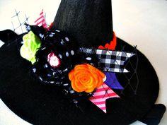 Witchcraft Halloween Embellished Mini Felt Witch Hat