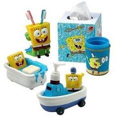Marvelous Spongebob Bathroom Decor Kids Bathroom On Pinterest